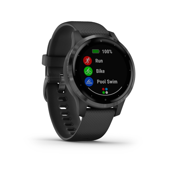 GARMIN Smart hodinky VÍVOACTIVE 4S PVD Black/Slate