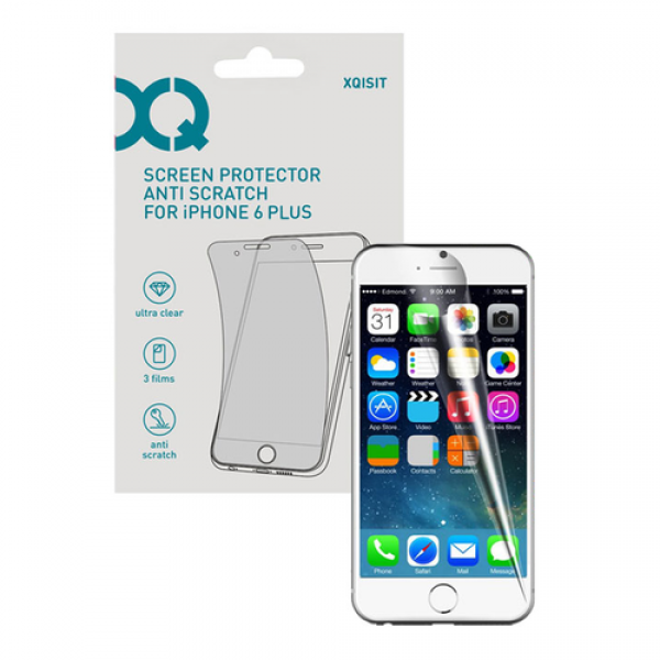 XQISIT Screen protector iPhone 6/6s Clear