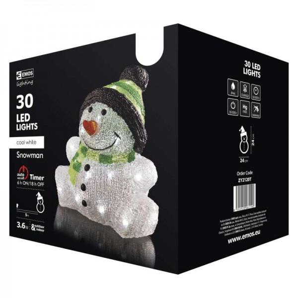 EMOS Vianočná dekorácia LED Snehuliak ZY2120T
