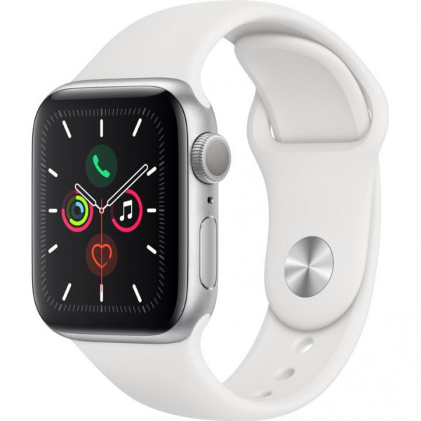 APPLE Watch SERIES 5 GPS Si ALU Case Wh Sp 40mm