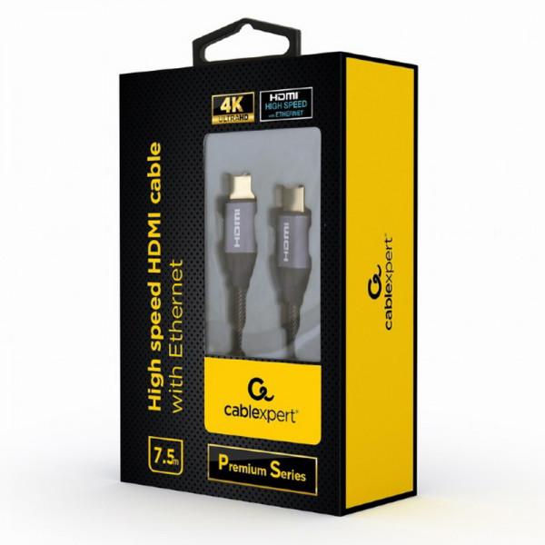 GEMBIRD Kábel HDMI 2.0b Sc/Sc 7,5m AWG26