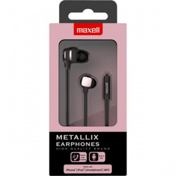 303790 METALLIX EARPHONES PINK MAXELL