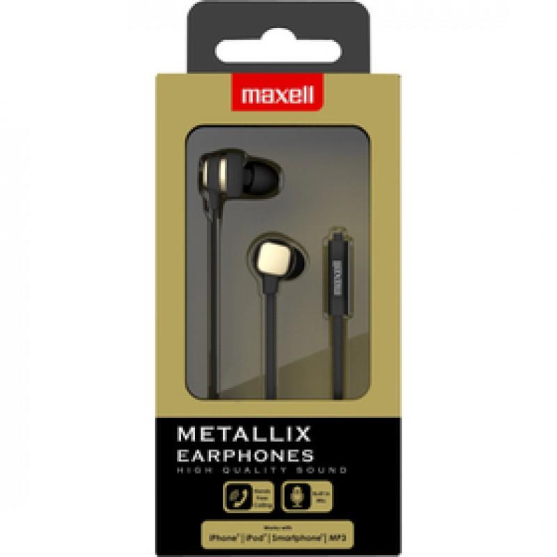 303789 METALLIX EARPHONES GOLD MAXELL
